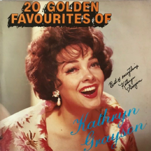 Kathryn Grayson ‎- 20 Golden Favourites Of Kathryn Grayson (LP) (Signed) (VG+/VG+)